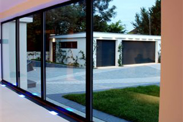 Dyke Road Case Study - Glass wall