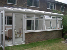 Exterior view of a conservatory extension